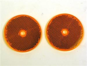 10 Amber Reflectors 2 Round Amber Reflectors Trailers Mailboxes