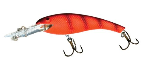 Cotton Cordell Wally Diver Fishing Lure - Fluorescent Red/Black - 2 1/2 in