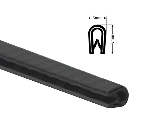 6x8mm Kantenschutzprofil metallverstärkt 1-2mm Blech Kantenschutz Schutzprofil