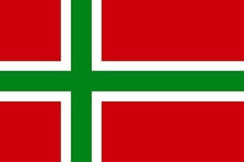 U24 Fahne Flagge Bornholm Bootsflagge Premiumqualit/ät 50 x 75 cm