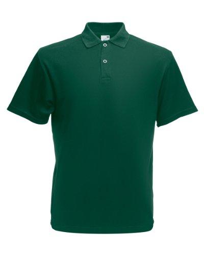 Herren Fruit Of The Loom Screen Stars Original Poloshirt Tshirt, 6 Farben-KOSTENLOSE LIEFERUNG XL,Forest Green