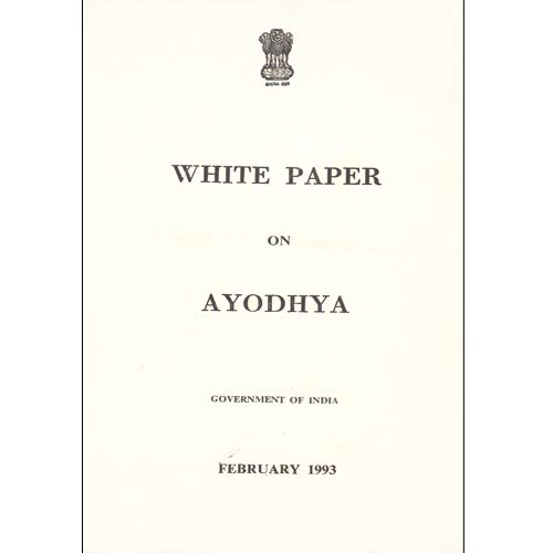 Amazon in: Buy White Paper On Ayodhya, Govt  of India Book