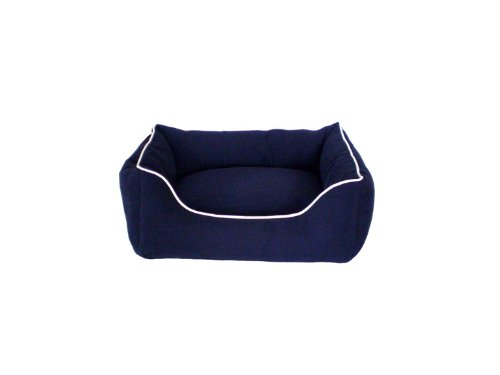 Dog Gone Smart Lounger Bed, M, Navy, My Pet Supplies