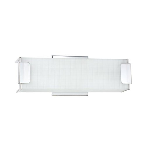 - Kendal Lighting VF2200-3L-CH Alba Collection 3-light Vanity, Chrome Finish with Linen Glass