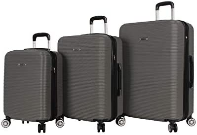 Rosetti Luggage Loren hardside 3 Piece Suitcase Set With Spinner Wheels One Size, Charcoal