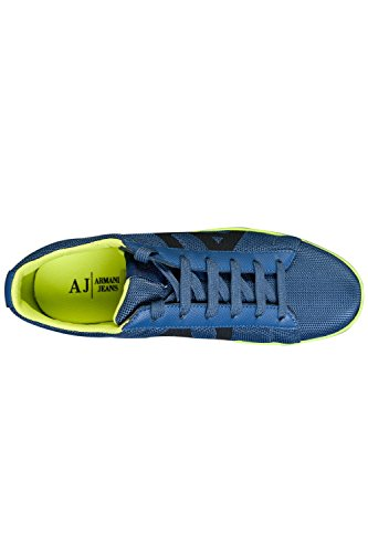 Armani Jeans A6518 Blue Low Textile Trainer Blue clearance big discount brand new unisex cheap price visit new cheap online RxS0J