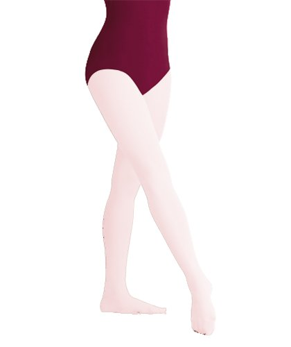Body Wrappers A30X Women's Plus Size TotalSTRETCH Footed Tights, Theatrical Pink, 1X/2X]()