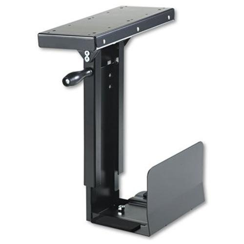 (SAFCO Swivel-Mount Under CPU Stand, 13w x 9-1/2d x 17-1/2 to 25-1/4h, Black (Case of 2))