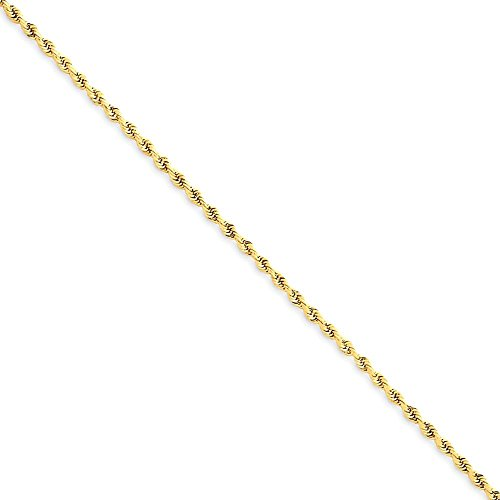 ICE CARATS 14k Yellow Gold 1.50mm Link Rope Chain Anklet For Women Ankle Beach Bracelet by ICE CARATS