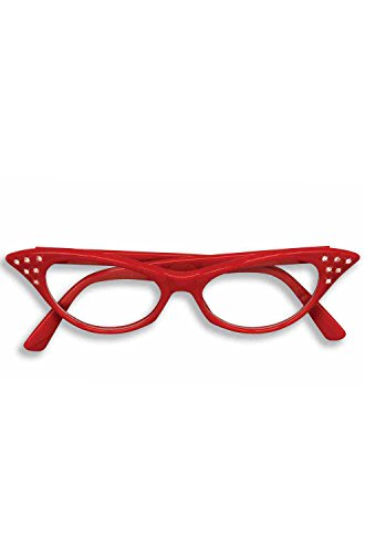 Forum Novelties 50's Rhinestone Glasses, Red ()