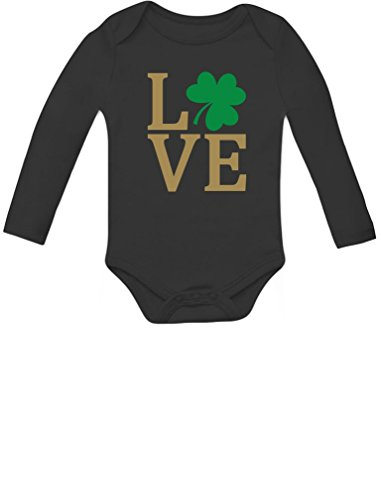 Tstars - Irish Clover Love St Patrick's Day Cute Irish Baby Long Sleeve Bodysuit