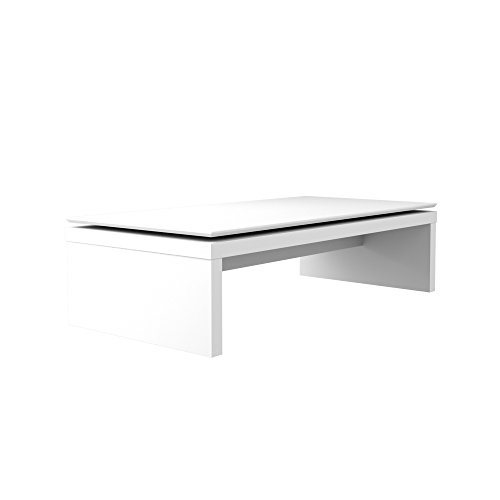 Manhattan Comfort 89652 Lincoln Rectangle Coffee Table, White Gloss ()