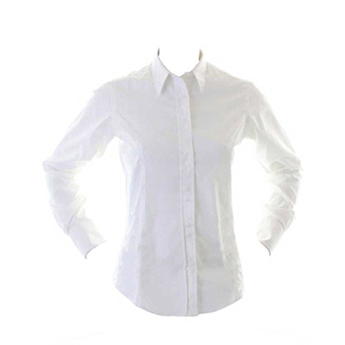 Kustom Kit Ladies City Business Blouse Long Sleeve White