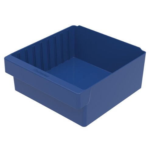 Akro-Mils 31112 11-5/8-Inch L by 11-1/8-Inch W by 4-5/8-Inch H AkroDrawer Plastic Storage Drawer, Blue, Case of 4 by Akro-Mils