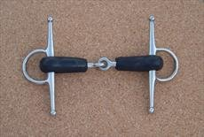 Full Cheek Rubber Covered Jointed Snaffle-4 1/2