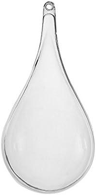 67260cba3e Pinzhi 10x Boule Creuse Plastique à Remplir Boîte Bonbons Transparent  Ornement Mariage Décoration Suspendue pour Arbre de Noël Boîte Gift  Christmas - Goutte ...