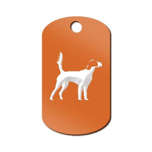 English Setter Engraved Keychain / GI Tag Mister Petlife llewellyn Orange (Keychain Setter)