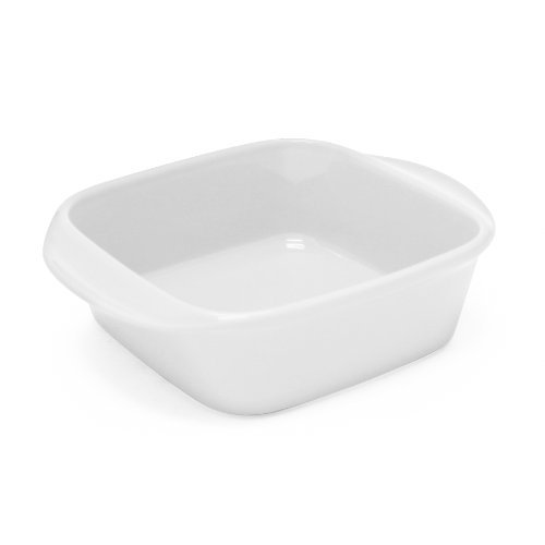 Chantal 93A-SQ20T WT Classic Square Baking Dish, 8 by 8 by 2.75-Inch, Glossy White by Chantal