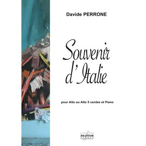 Souvenir d'Italie for 5-string viola and piano