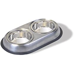 Pureness Stainless Steel Small Double Dish, 08-Ounce Per Side