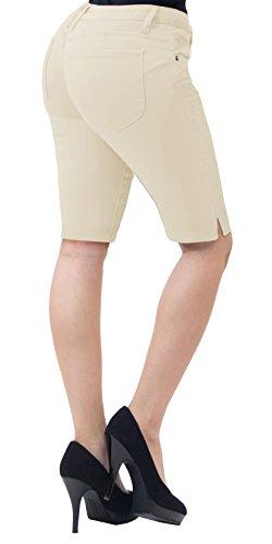 (HyBrid & Company Super Comfy Stretch Bermuda Shorts B43308 Stone 7)