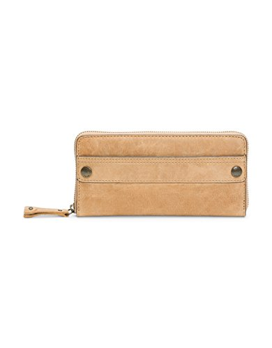 - FRYE Melissa Zip Around Leather Wallet, Beige
