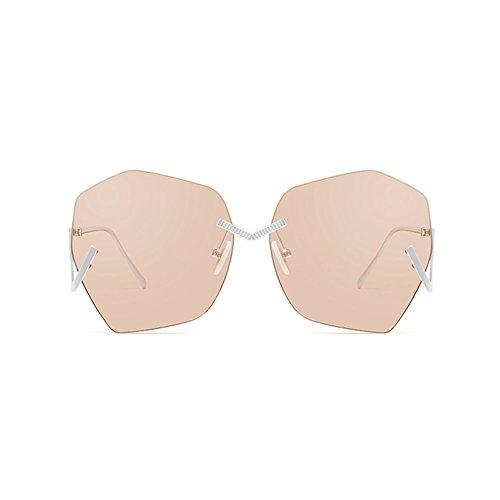 Sol De De De Negro Gafas Sol UV Femeninas Gafas Sin Color Sol Gafas De Afluencia Decorativas Gafas Sol LIZHIQIANG Marco De Marrón 5wxqUIYtRa