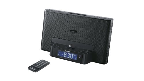 Sony ICFCS15IPN Lightning iPhone/iPod Clock Radio Speaker Dock (Black) (Discontinued by Manufacturer) (5s Ipod Dock For)