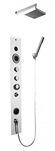 Serene Steam Complete Luxury Home Shower Steam System, Build In Premium Bluetooth Includes Aromatherapy Future + 2 Scents No Electricity No Generator Needed Easy Assembly Us Made (Polished Chrome)