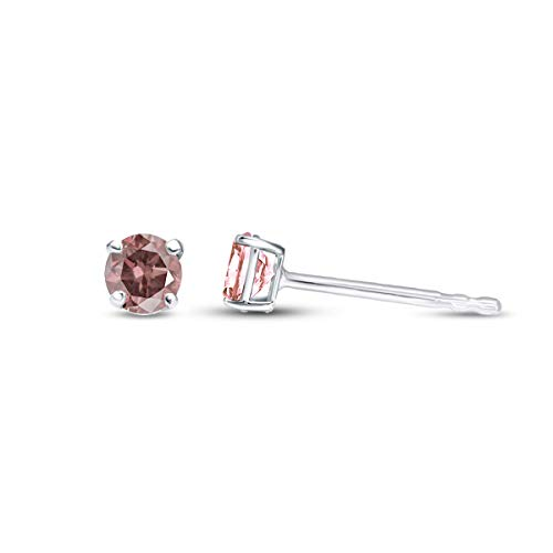 Mothers Day Gift 3/4 ctw IGI Certified Pink Lab Created Diamond Solitaire Earrings For Women Lab Grown Diamond Earrings 14K Pink-VS2-SI1 Quality White Gold Real Diamond Earrings (Jewelry Gift For Mom)