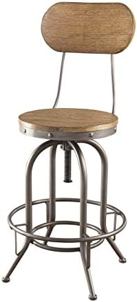 Coaster Home Furnishings Coaster Industrial Rustic Graphite Adjustable Bar Stool