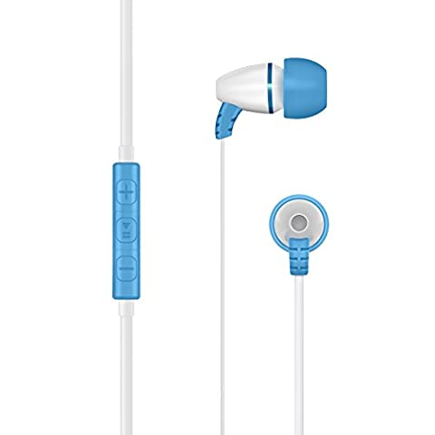 LilGadgets BestBuds Volume Limited In-Ear Headphones with Mic for Children / Kids (includes travel case and (Track Phone Covers)