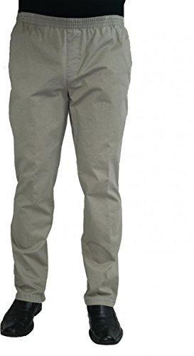Herren Jeans Stretch Schlupfhose Amberg 28-4015/30 beige mit Struktur