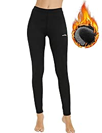 COOLOMG Women's Thermal Leggings Fleece-Lined Warm Tights