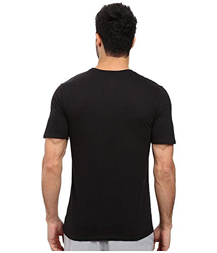 NIKE Men's Sportswear Just Do It Swoosh Tee, Black/Varsity Red, XX-Large
