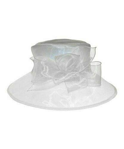 Josette Organza Bow Hat (White, One Size)