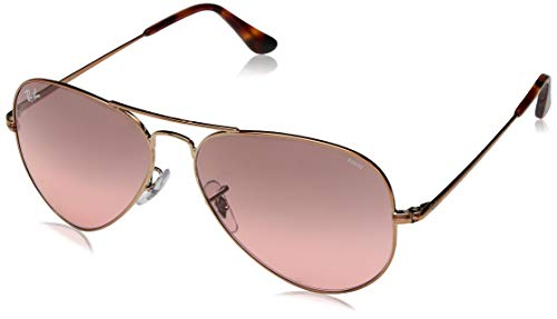 Ray-Ban RB3689 Aviator Evolve Photochromic Sunglasses, Copper/Photochromic Red Gradient, 55 mm (Ray-ban Photochromic)
