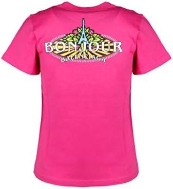 Balenciaga Fashion Woman 578133THV605630 Fuchsia Cotton T-Shirt   Spring Summer 20