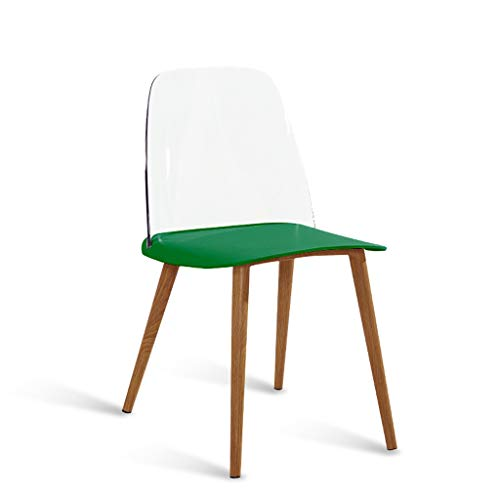 Lyqqqq Bar Stool Fashion Nordic Creative Danish Designer Dining Chair to Discuss Casual Home Creative Personality Modern Minimalist Chair (Color : Green)