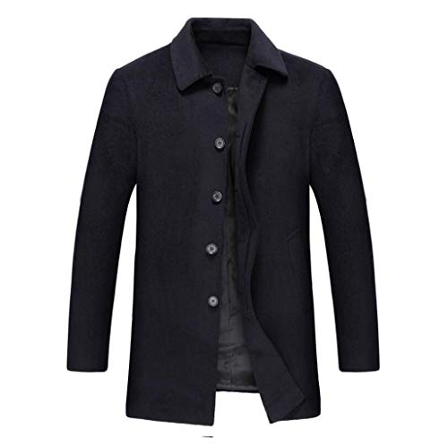 color Otoño Qkdsa De Negro Hombre Tamaño Invierno Para Abrigo S Lana 4xl Chaqueta Negro Xl E Cortavientos qw1f7