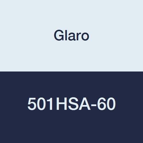 Glaro 501HSA-60 Single Shelf Wall Mounted Modular Coat Rack - Satin Aluminum finish - 60'' - 20 Aluminum Hangers Included