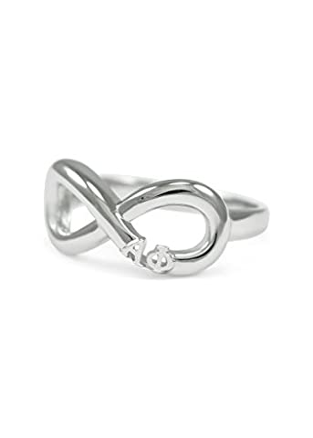 Alpha Phi Sterling Silver Infinity Ring (05)