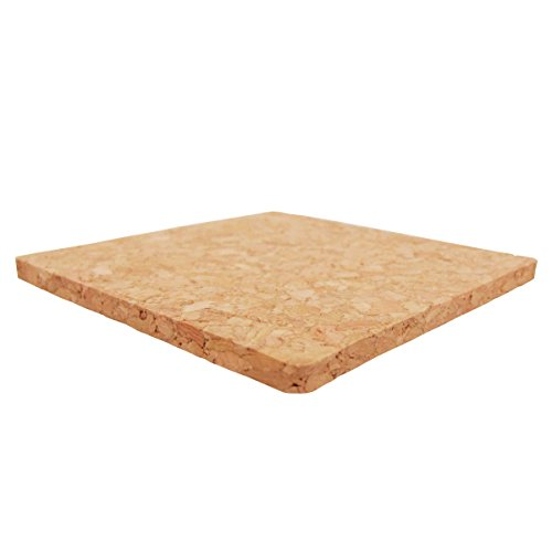 "Cork Coasters, Square Cork Drink Coasters 4"" x 4"" , Pack of 8 (8)"