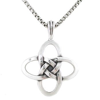 Celtic love knot necklace in sterling silver on 20 oxidized round celtic love knot necklace in sterling silver on 20quot oxidized round box chain for men aloadofball Image collections