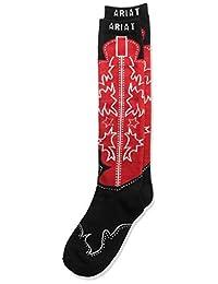 ARIAT womens Women's Over the Calf Boot Novelty Sock Casual Sock