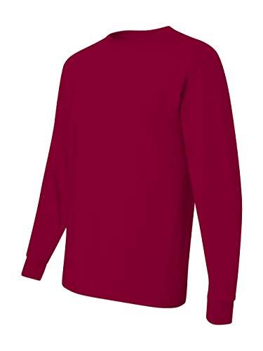 (Jerzees Men's Heavyweight Blend 50/50 Long Sleeve T-Shirt (Cardinal, Small))
