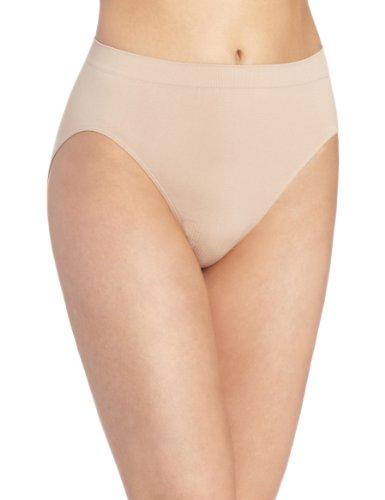 Bali Women's Microfiber Hi-Cut Panty, Nude, (High Cut Briefs Underwear)