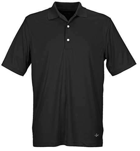 Greg Norman Collection Men's ML75 Solid Polo Shirt, Black, Large