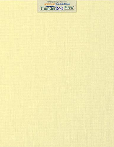 50 Ivory Linen 80# Cover Paper Sheets - 8.5