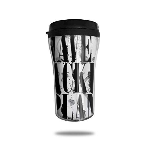 HJGKFL Always Have A Backup Plan Ice Coffee Small Coffee Cup Carrying Hand Cup Reusable Plastic Curve Travel Cup Coffee Cup Asymmetric Men Children Teen Adult